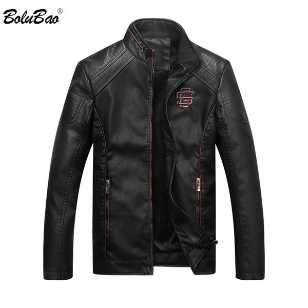 2018 nuovi uomini in pelle scamosciata giacca moda moto cuoio dell'unità di elaborazione maschile giacche invernali capispalla cappotti in ecopelle cappotto