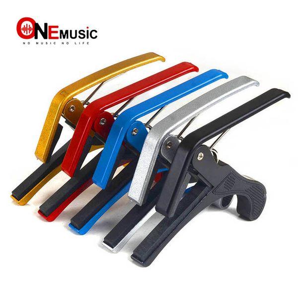 10PCS High Quality Aluminium Alloy New Black Quick Change Clamp Key Acoustic Classic Guitar Capo For Tone Adjusting