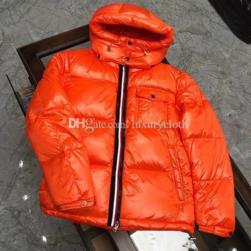 Parkas luxe design de manteau de duvet des hommes femmes chiffon doux confortable 90% de la taille vers le bas manteau d'hiver décontracté 1-5
