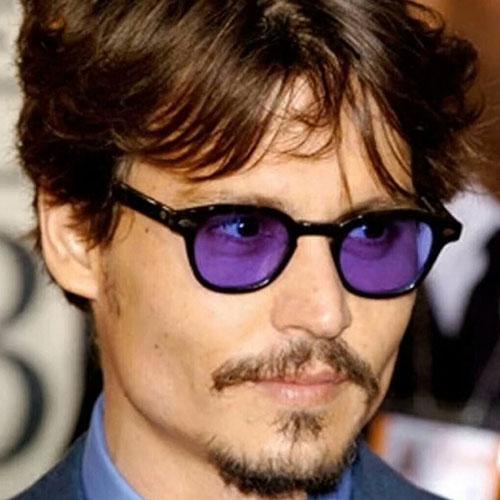 Johnny Depp para mujer Gafas de sol Hombre Sombras Diseñador de la marca Gafas de sol para hombres Mujeres Remache Oval Gafas de sol de color caramelo gafas de sol masculinas