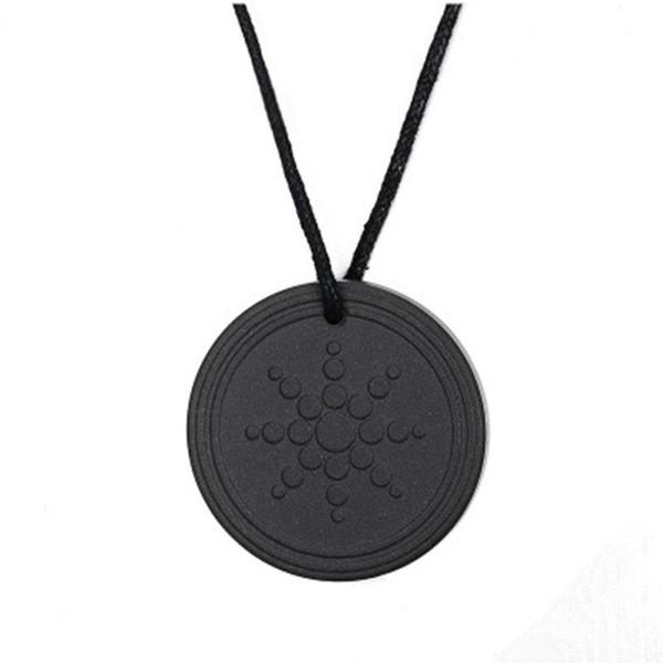Bijoux noir chaud unisexe pendentif Quantum Energy Collier Pendentif Lava Negative Ion énergie Collier Pendentif Bijoux Cadeaux S2468