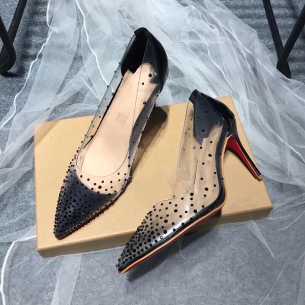 2019 Elegant Gold Rhinestone Pumps Women Shoes Pointed Toe Slingback Thin Heels Crystal Wedding Shoes Bride Cut-out Pumps dlm190710