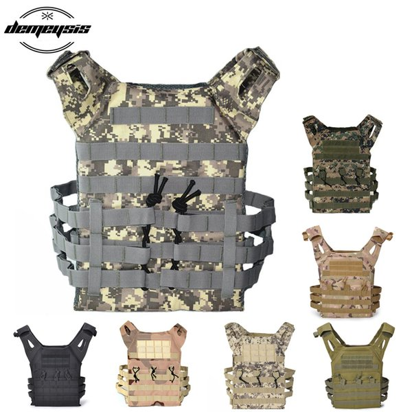 Outdoor Hunting Vests Molle Tactical Shooting Vest Protect Plate Carrier Combat Wargame Adjustable Safety Vest