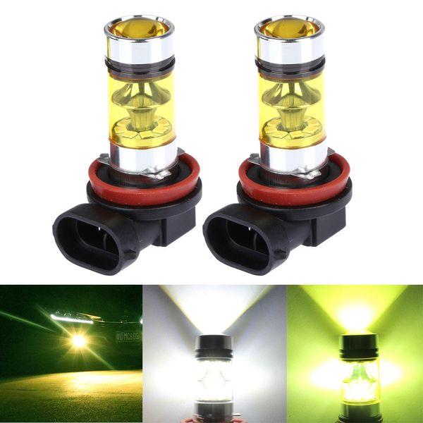 2 PCS H8 H11 9005 HB3 9006 HB4 Carro Nevoeiro LEVOU Luz Canbus DRL Condução Do Carro Correndo Luz de Nevoeiro 20LED 2835 100 W 12 V Branco Dourado Amarelo
