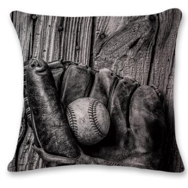 #9 Baseball Throw Pillow Case