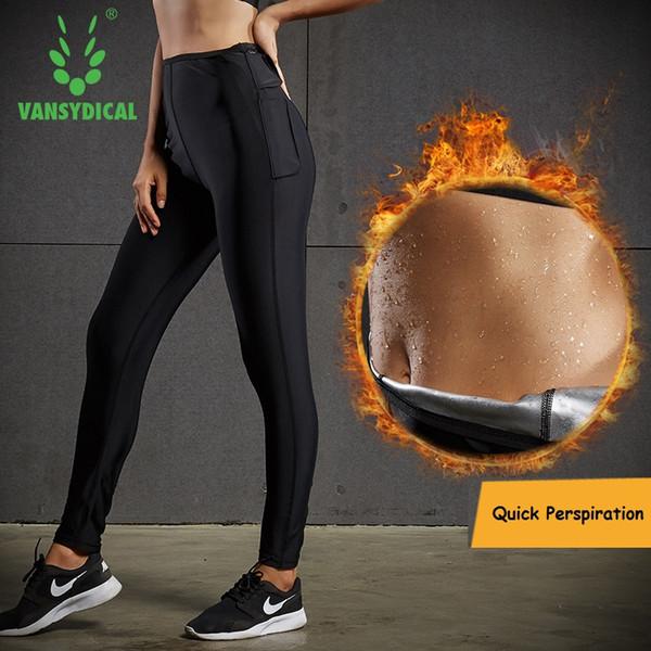 Cintura Trainer Calças de Corrida Yoga Mulheres Hight Cintura Ginásio de Fitness Workout Leggings Hot Sweat Body Shapewear Calças Esportivas Mulheres