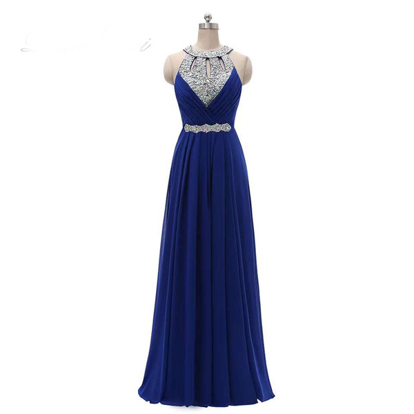 Sleeveless crystal Prom dress evening dress party dresses lace hot chiffon party dress sexy long maxi evening party beach dresses