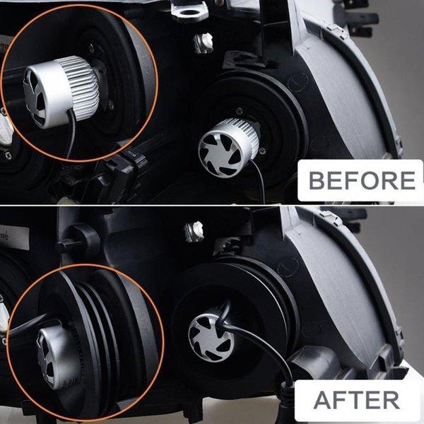 Yeni 2PCS Su geçirmez LED Silikon Far Toz Kapağı toz geçirmez Araç Farlar