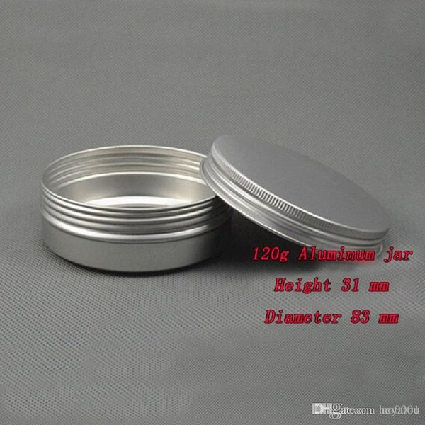 500pcs Capacity 120g (83*31mm) high quality aluminium jar ,The tea box, cream box empty aluminum Tin metal jar