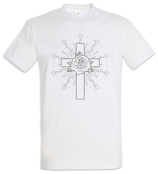Rose Cross III T-Shirt Symbol Tattoo Sign Roses Christian Christ Artist Art Men Women Unisex Fashion tshirt Free Shipping black