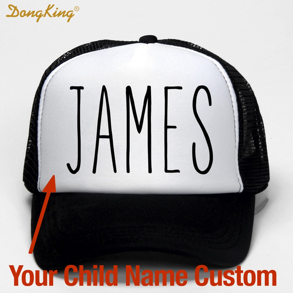 DongKing Kids Baby Child Name Custom Trucker Hat Printed Name Child Baby Son Daughter Custom Personal CapBaseball Cap Gift