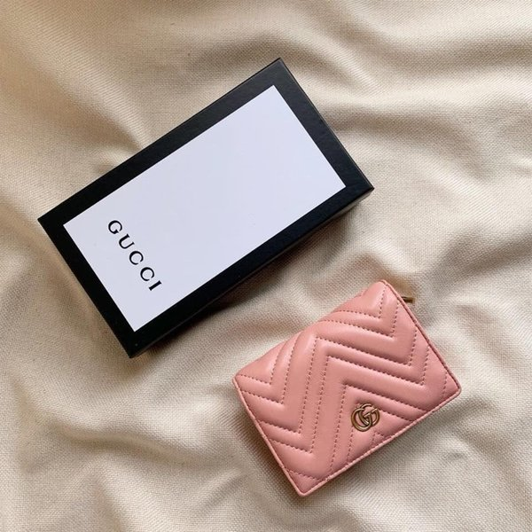 2019 New Hot Brand Men Short G Wallet Classic Fashion Male Patchwork Purse With Coin Pocket Card Holder No Box 0723