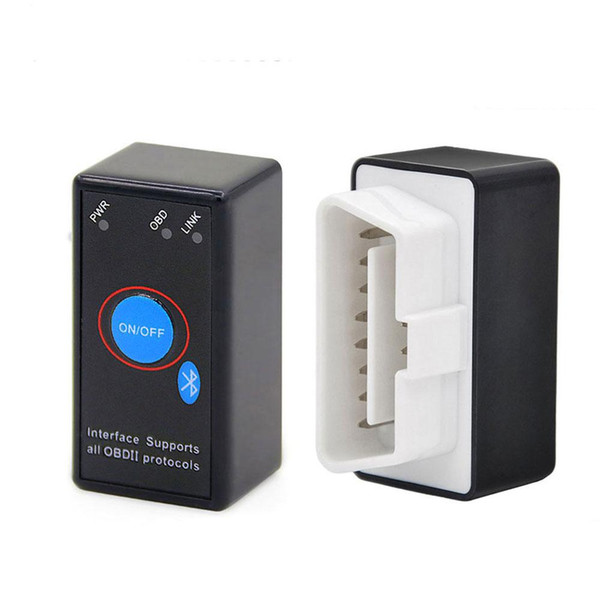 Mini Elm327 Bluetooth Scan Tool OBDII Interface v1.5 for Android with Power Switch