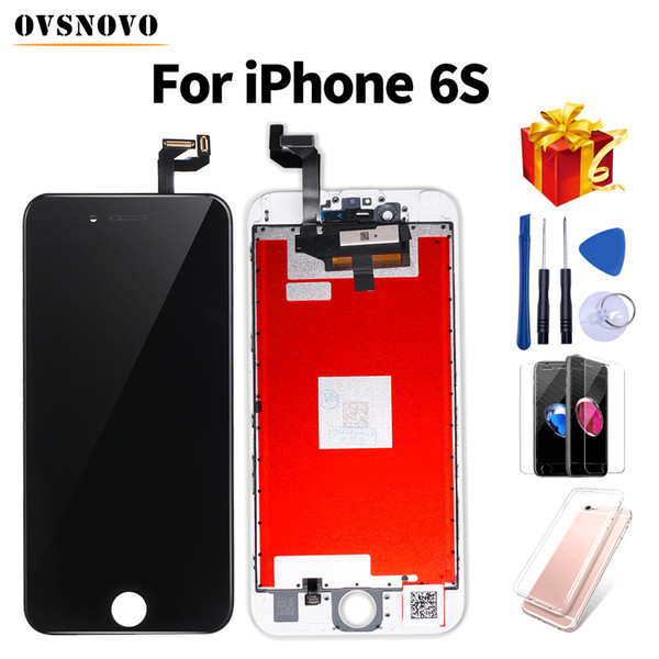 Top quality LCD For iPhone 6s Display Assembly for iPhone 5s with Screen Replacement Pantalla for iPhone 6+Tools+Tempered Glass