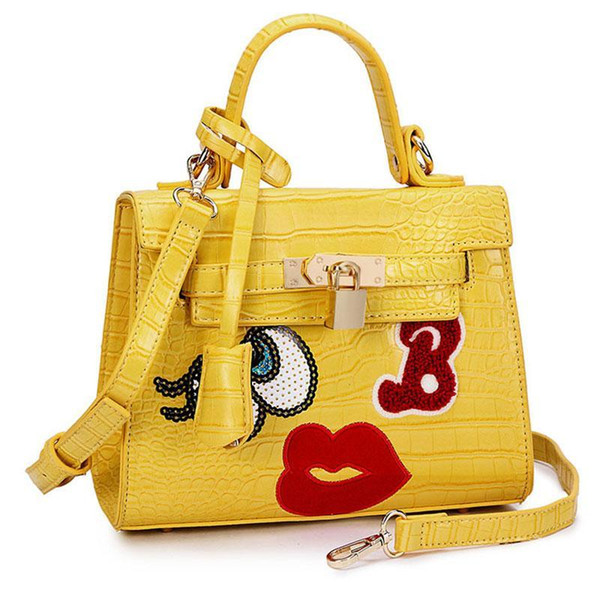 Wholesale-women flap bag small cute mouse big eye bags leather handbags clutch sweet heart girl lock sequins bolsa women messenger bags