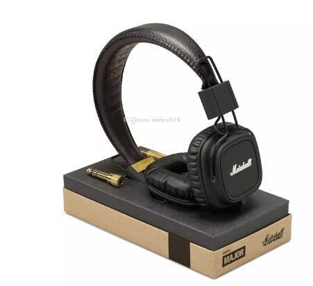 Marshall Major kulaklıklar Mic Ile Derin Bas DJ Hi-Fi Kulaklık HiFi Kulaklık Perakende paketi ile Profesyonel DJ Monitör Kulaklık