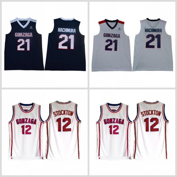 size 40 c9502 74c67 2019 Gonzaga Bulldogs 21 Rui Hachimura Basketball 12 John Stockton Jersey  High School Team White Color Stockton Bulldogs Jerseys Breathable From Fair  ...