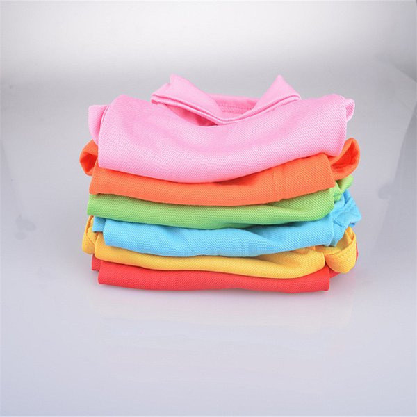 DHL hot Fashion Dog Polo Shirts For Spring Summer Colorful Pet Clothes Poromeric Material For Small Baby Pet Easy Washing Factory Price 69ZL
