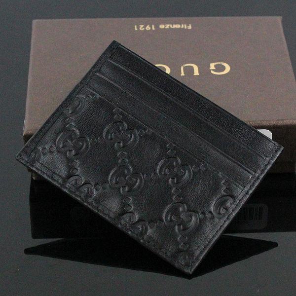 Sıcak Satış Hakiki Deri İş Küçük cüzdan En Kaliteli Ince Banka KIMLIK Kartı Kutusu ile Para Kılıfı Çanta kutusu