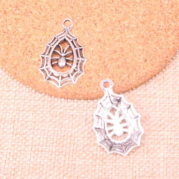 67 stücke Charme spinne spinnennetz halloween Antikes Silber Überzogene Anhänger Fit Schmuck, Die Entdeckungen Zubehör 35 * 20mm