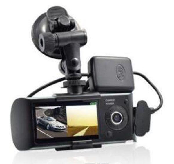 2019 Dual Lens Car DVR X3000 R300 Dash Camera con GPS G-Sensor Videocámara 140 grados de gran angular 2.7 pulgadas Cam Video Grabador Digital