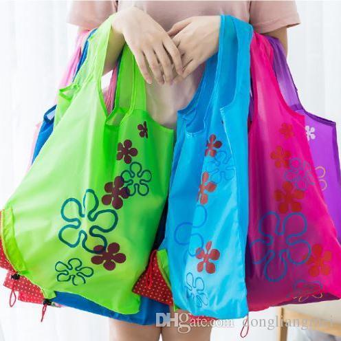 Mélange de couleur réutilisable Sacs, pliable fourre-tout Eco Grab Bag avec poignées, 20pc ÉPICERIE Sacs wn428