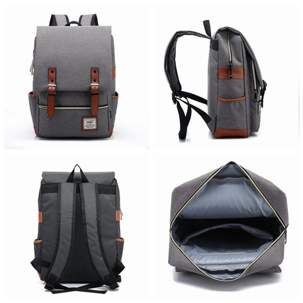top popular 21 Colors Men Women Outdoor Sport Travel Bag Pack Fashion Vintage Canvas Backpack Shoulder Student School Rucksack ZZA964 2019