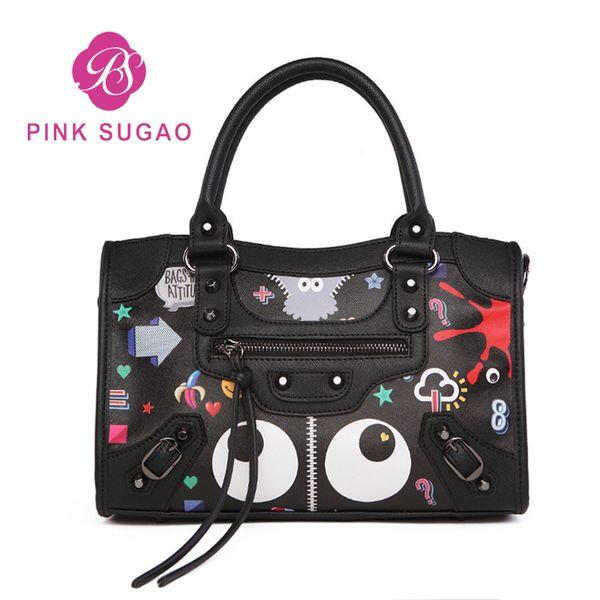 Pink sugao designer luxury handbags purses for women designer handbag 2019 new fashion cartoon cute shoulder bags big Boston crossbody bags