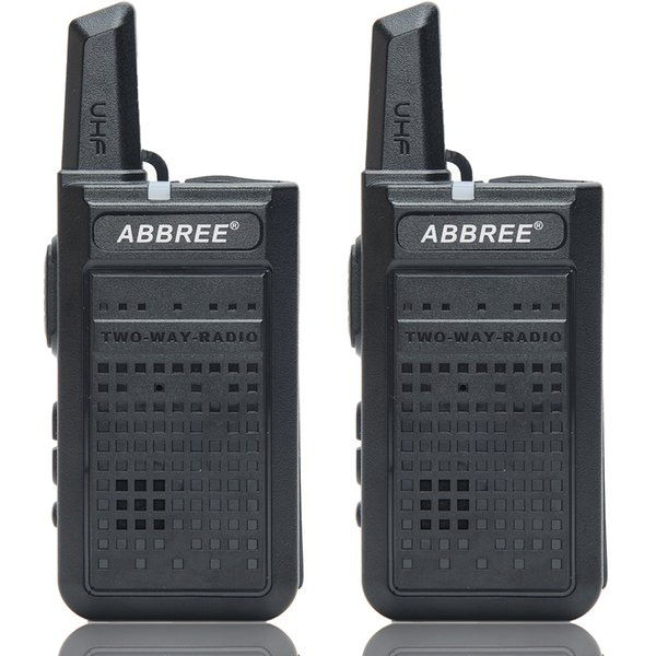 top popular 2pcs ABBREE AR-A2 Mini Portable Walkie Talkie USB Charge VOX Two-Way Radio Handheld Transceiver UHF 400-470MHz 2021