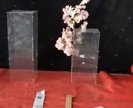 Acrylique transparent hauteur 40cm