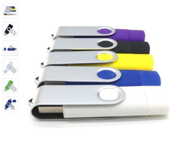 Factory price Hotsale Brand USB Flash Drive OTG 4GB 8GB 16GB 32GB 64GB Smart Phone Mobile Pen Drive USB Stick Pendrive External Storage