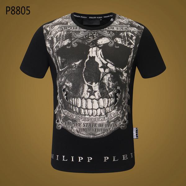 19ss Mens luxury designer brand t shirts Novelty Design Mens Tee Shirts Pure Cotton Round Collar Leisure Tshirts Frank Skull Printed Airsoft
