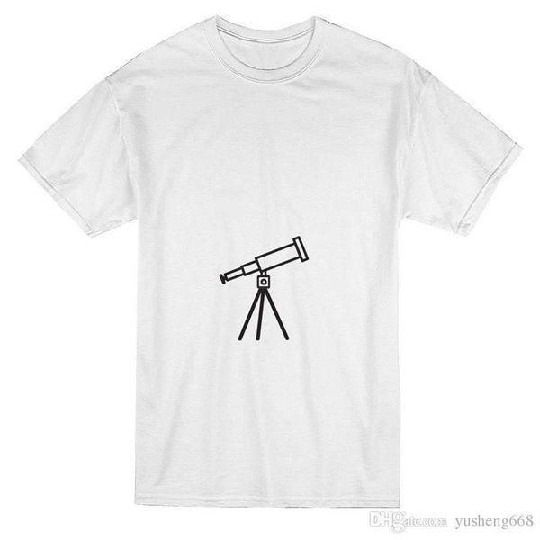 Короткие модные футболки мужские o-шея телескоп Луна футболки