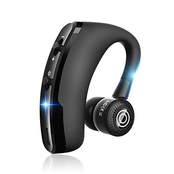 V9 Wireless Bluetooth Kopfhörer Freisprecheinrichtung CSR 5.0 Noise Cancelling Kopfhörer Business Headset Sprachsteuerung mit Mikrofon für Fahrer Sport Earbuds