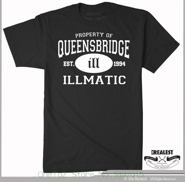 Nouveauté O - T-shirts Illmatic / Queensbridge Nas Noir T-shirt Pull Dj Classique Hip Hop Ill