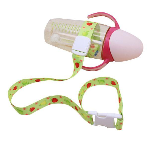 Chica lindo del bebé del cochecito de niños de juguete de dibujos animados accesorios de la cadena de prevención de pérdida segura de la correa del botón para el bebé (sin botella) 30MY10