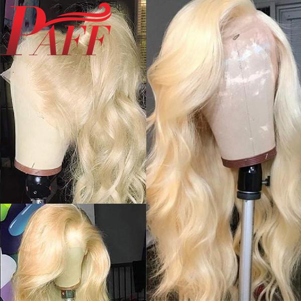 PAFF 613 Blonde Lace Front perruque 13x4 corps brésilien vague perruque Preplucked Lace Front Wigs Cheveux Remy Hair