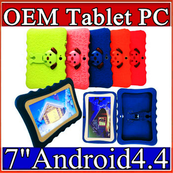 """best selling 168 7 inch Kids Brand Tablet PC 7"""" Quad Core children tablet Android 4.4 Allwinner A33 google player wifi big speaker protective cover L-7PB"""