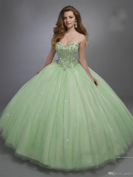 Mint Sweet 15 Dresses Mary's with Free Bolero and Lace up Back Beading Sparkling Bright Red Bll Gown Quinceanera Dress Custom Prom Dress