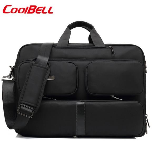 """Coolbell 17 inch Large Capacity Men's Laptop Backpack Convertible Shoulder Bag 17.3"""" Messenger Bag Business Briefcase Handbag"""