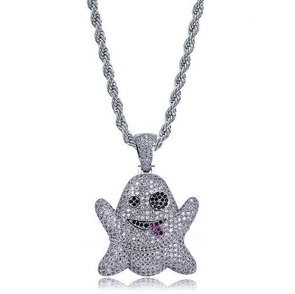 ghost emoji+rope chain