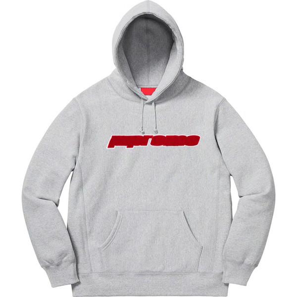 Hot Sell 19SS Box Logo CHENILLE LOGO Hooded Sweatshirt Fashion Hoodies Men Women Highstreet Crewneck Casual Pullover HFLSWY297