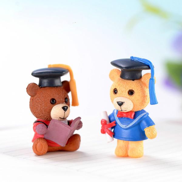 Doctor Urso Desktop Ornamento Estudante Ama Presente Musgo Micro Paisagem Decoração Plantas Suculentas Pot Acessório Em Miniatura Fada Jardim brinquedos