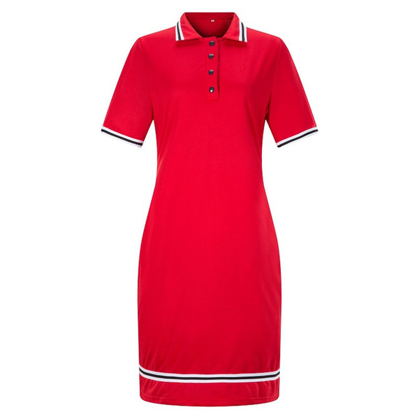 Plus Size Womens Bodycon Dress Lapel Short Sleeve Polos Collar Dress Hot Sale Summer Business Dresses Fashion Casual Pencil Dress