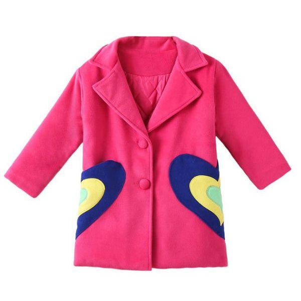 HOVERFEI 2018 autunno e inverno ragazze cappotto giacca per bambini caldo spesso cappotto per bambini casual lunghe jacks ragazze vestiti