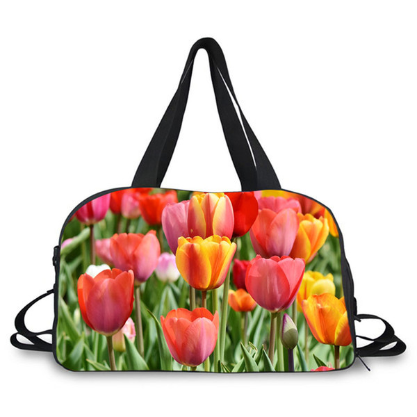 Travel Duffels Floral Red Duffle Bag Luggage Sports Gym for Women /& Men