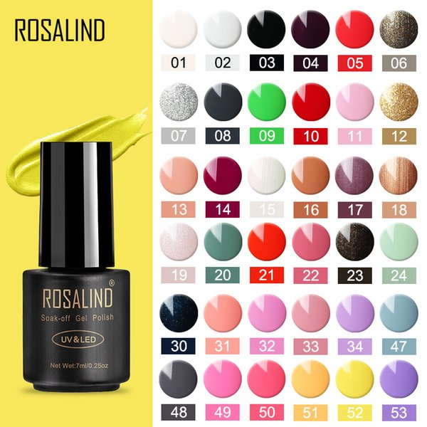 ROSALIND Gel Nail Polish 7ml Hybrid Manicure Nail Gel Set For Manicure Nails Art UV Varnishes Polish