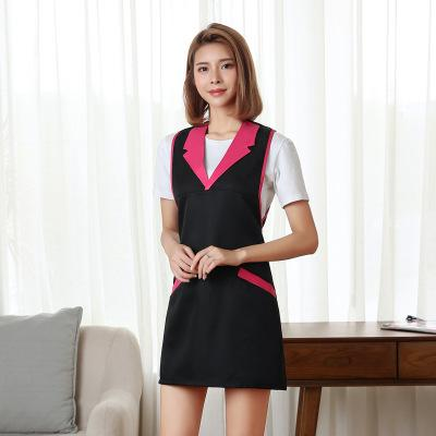 top popular New Polyester Nail Work Cloth Cosmetologist Beauty salon Apron Uniform Mother and baby store clerk Sleeveless apron 2020