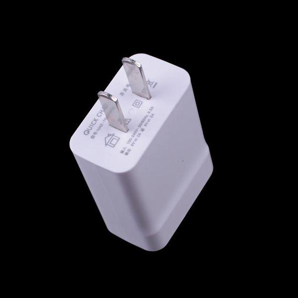 18W carga rápida 3.0 cargador de teléfono móvil rápido EE. UU. UE enchufe de pared Adaptador de cargador USB para iPhone Samsung Xiaomi Huawei cargador 200 unids