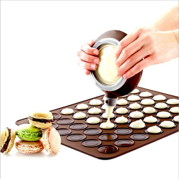 Silicone Macaron Macaroon Pastry Oven Baking Mould Sheet Mat 30-Cavity DIY Mold Baking Mat Useful